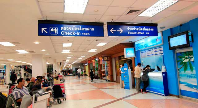 The airport is located 4 kilometres southwest of Chiang Mai Downtown.
